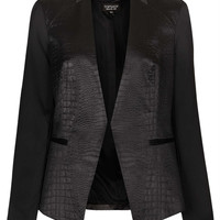 Croc Embossed Contrast Jacket - New In This Week - New In - Topshop USA