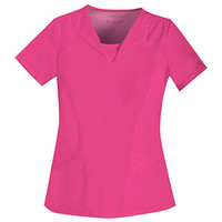 Perfect Stretch by Cherokee Women's V-Neck Embroidered Top|MyNursingUniforms