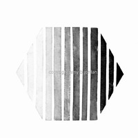 Ombre Hexagon Geometric Watercolor Painting or Print / nate berkus inspired, #hexagon #geometric #blackandwhite #westelm, #etsy #prettyinc
