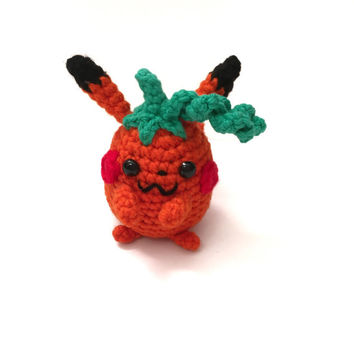 Halloween Toy Amigurumi Pikachu Inspired Doll Crochet Pikachu Plush Amigurumi Pumpkin Stuffed Toy Kids Toy Halloween Gift Ideas