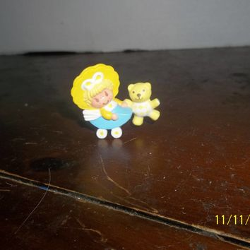 vintage strawberry shortcake mini miniature butter cookie in a baby carriage pvc