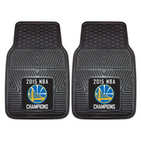 Golden State Warriors 2015 NBA Champion Heavy Duty 2-Piece Vinyl Car Mats (18x27)