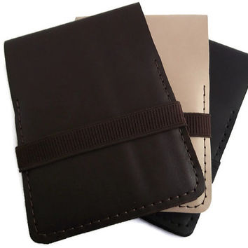 Leather Notepad Cover, Notepad Holder, Rhodia n.14 Cover, Reporter Notebook, Full Grain Italian Leather, Notepad included, Hand Stitched