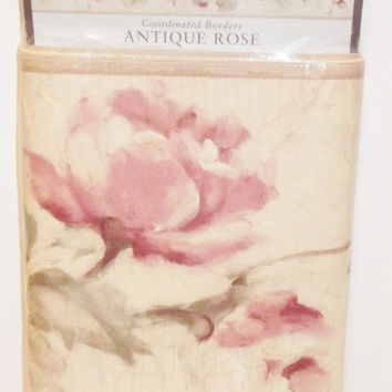 Wallquest Antique Rose Croscill 5 Yards Coordinated Wallpaper Wall Border DIY Home Decoration Interior Design