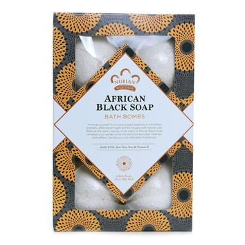 Set Of 6 Bath Bombs - African Black Soap