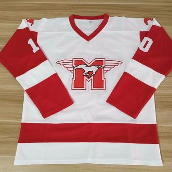 Dean Youngblood Hamilton Mustangs Ice Hockey Jerseys Rob Lowe Youngblood Moive White Double Stiched High Quanlity