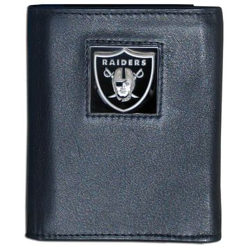 Raiders Leather Tri-fold Wallet #15443