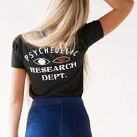Psychedelic Research Dept. tee, black