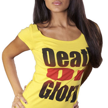 Ed Hardy Death or Glory Tee Yellow