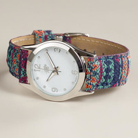 MINT AND BLUE MIX-PRINT WATCH