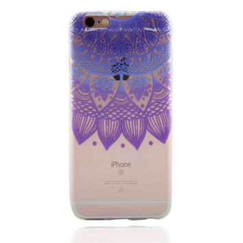 womens purple lace floral case for iphone 7 7plus iphone se 5s 6 6 plus best protection cover gift box 87  number 1