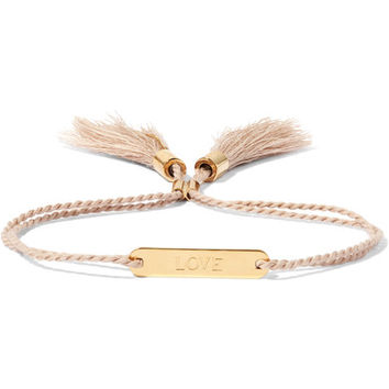 Chloé - Messages gold-tone cotton bracelet