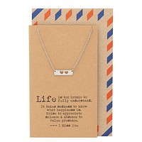 Tilly Heart Bar Necklace Long Distance Relationship Best Friend Gifts Miss You Cards