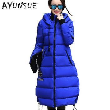Winter Jackets For Women Parkas 2017 Winter Warm White Duck Down Jacket Thickening Hooded Womens Winter Coat Plus Size 5XL HJ220