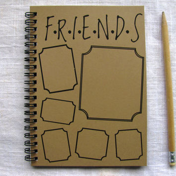 FRIENDS with frames - 5 x 7 journal
