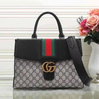Gucci Women Fashion Leather Satchel Shoulder Bag Handbag Crossbody