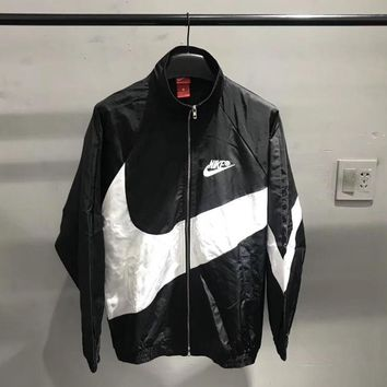 Nike Black Big Swoosh Windrunner Jacket