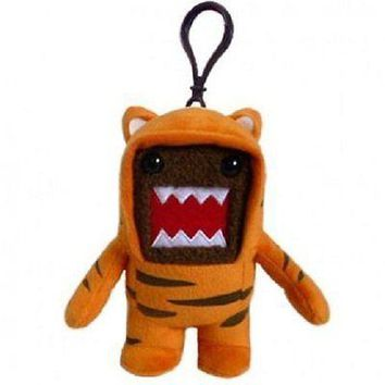 """DOMO TIGER Costume 4"""" Plush Keychain Clip-On - NEW W/TAGS"""