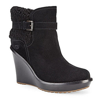 ugg australia anais suede wedge boots from dillard s