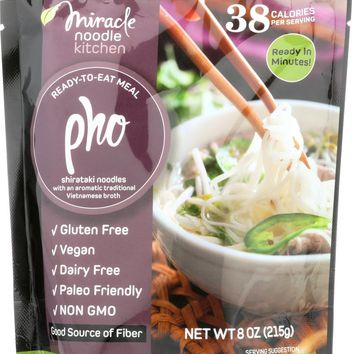 MIRACLE NOODLE: Ready-to-Eat Meal Vegan Pho, 215 gm