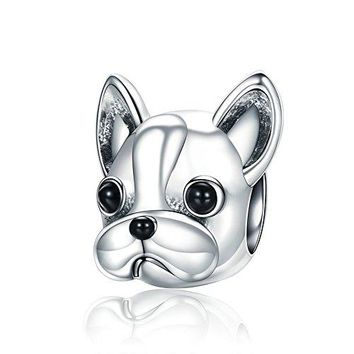 Everbling Cute Puppy I Love Dog Pet Lover25 Sterling Silver Bead Fits European Charm Bracelet