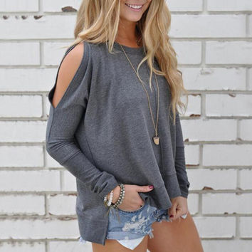 Women Elegant Blusas Tops 2017 Summer Ladies Sexy Tunic Off Shoulder Long Sleeve Pullover Casual Loose Blouse Shirts