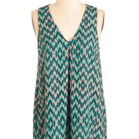 ModCloth Mid-length Sleeveless The Zig Picture Top