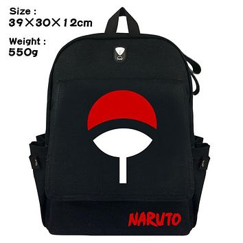 Anime Backpack School kawaii cute Naruto Sasuke Sharingan LOGO Backpack Shoulder travel School Bag for teenagers Cartoon Laptop Shoulders Bags AT_60_4
