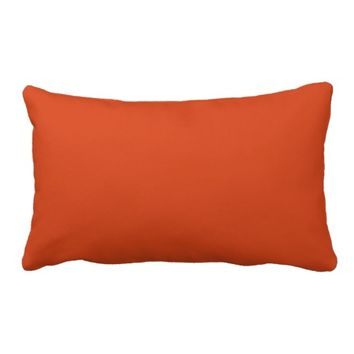 "Burnt Orange Throw Pillow Lumbar 13"" x 21"""