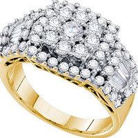 Diamond Fashion Ring in 14k Gold 1.5 ctw