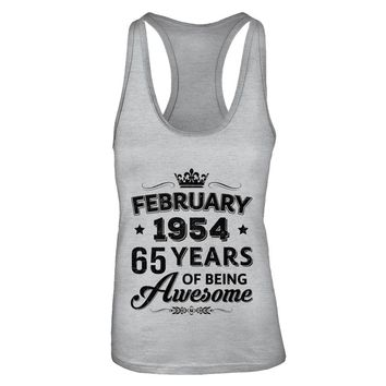 February 1954 65Th Birthday Gift Vintage Being Awesome