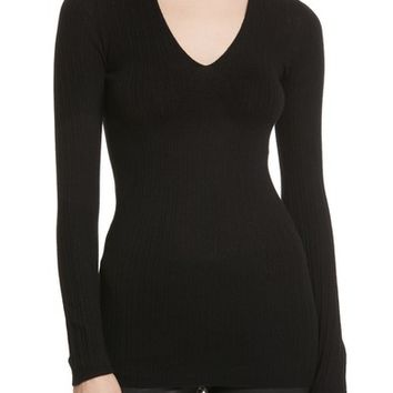 Vince Ribbed Cashmere V-Neck Sweater | Nordstrom