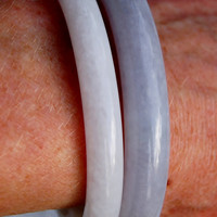Chinese Lavender Gray Jade Jadeite Bangle Bracelet