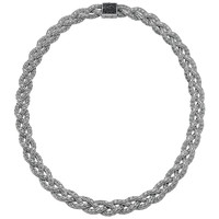 Black Sapphire Braided Chain Necklace - John Hardy - Silver