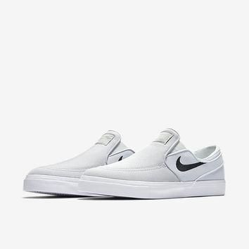 The Nike SB Zoom Stefan Janoski Slip-On Canvas Men's Skateboarding Shoe.
