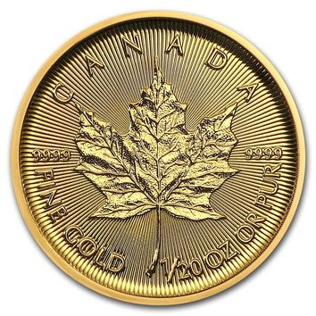 2019 Canada 1/20 oz Gold Maple Leaf BU