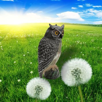 New Arrival 40x19cm Outdoor Hunting Plastic Fake Owl Decoys Garden Yards Ornaments Scarer Scarecrow Pest Deterrent Repeller