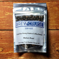 Costa Rica Fresh Roasted Arabica Coffee Beans Direct Trade 2 oz Sample Brew Cruise Coffee Medium Roast