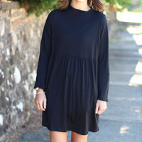 Lovestuck Turtleneck Dress {Black}