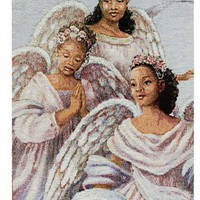 Angelic Trio Religious Bell Pull Tapestry Wall Hanging