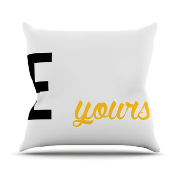 "KESS Original ""Mine II - Yellow"" Couples Throw Pillow"