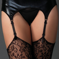 Sexy Playtime Wet Look Garter Belt