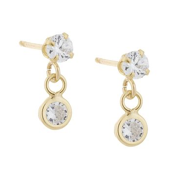 Solitaire Studs 14KT