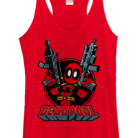 DeadPool Tank Top - Mini DeadPol With Guns