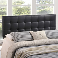 Lily Queen Vinyl Headboard in Black