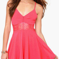 Spaghetti Strap Skater Dress