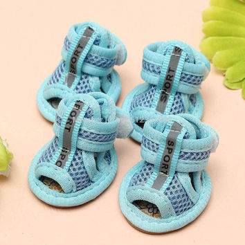 Casual Anti-Slip Small Dog Breathable Soft Mesh Sandals