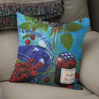 «Still life with raspberries», Numbered Edition Coussin by Savousepate - From 25€ - Curioos