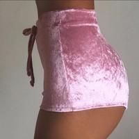 Pink Cashmere Shorts