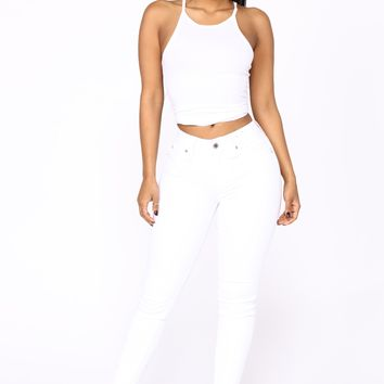Real Talk Booty Lifting Jeans - White